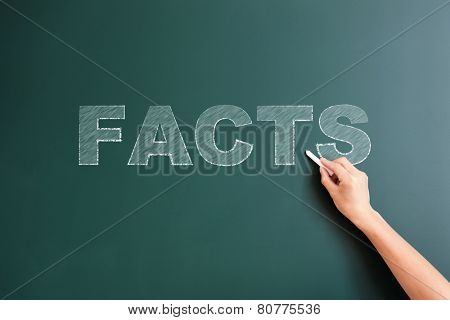 facts written on blackboard