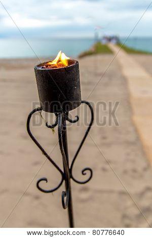 Oceanfront Wedding Torch