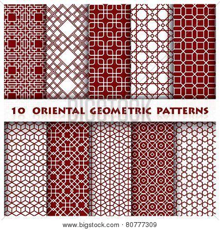 Oriental Geometric Line Pattern Style