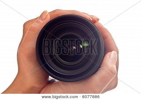 Lens In Hands