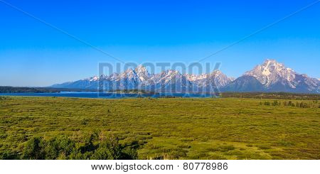 Teton Range On Jackson Lake
