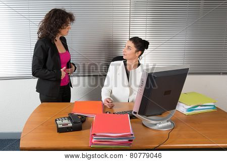 Two Business Woman Having Disagreement