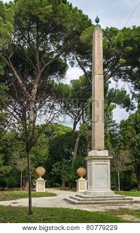 The Obelisk In Villa Celimontana, Rome