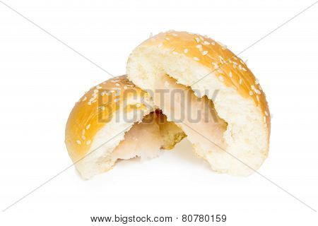 Taro Filled Bun With Sesame Seeds