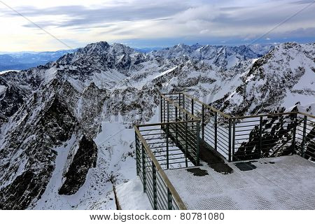 Viewpoint in hight Tatra Mountains, Slovakia