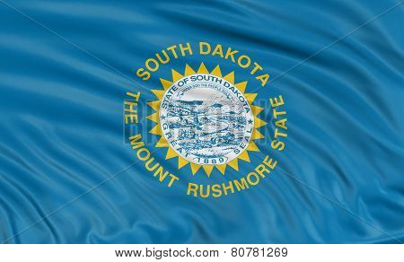 3D South Dakota Flag