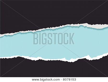 Blue Torn Strip Background