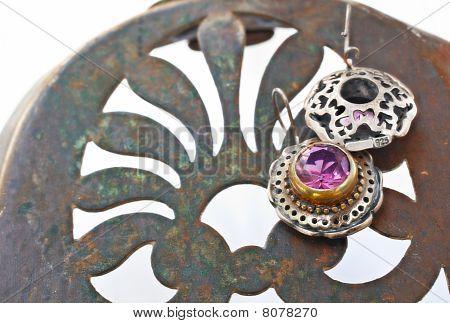 türkischen osmanischen Silber Ohrringe
