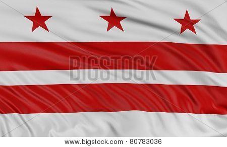 3D Washington, D.C.  Flag