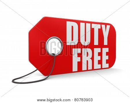 Label duty free (clipping path included)