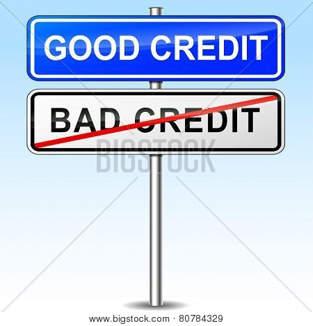 Good Credit Sign