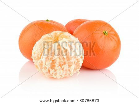 Studio Shot Mandarines,tangerines Isolated On White