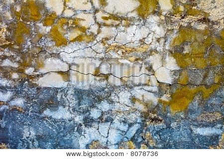 Old Concrete Wall With Cracks