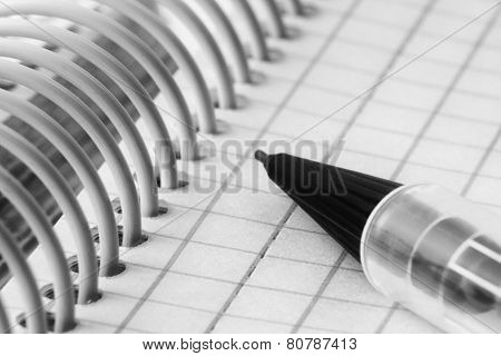Ball pen and office note book