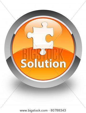 Solution Glossy Orange Round Button
