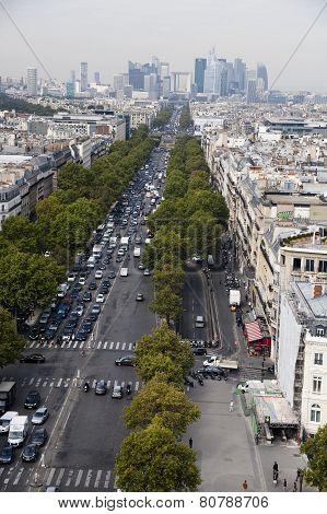 La Defense, panorama view of paris