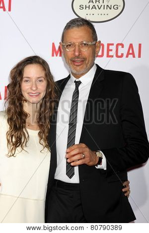 LOS ANGELES - JAN 21:  Emilie Livingston, Jeff Goldblum at the