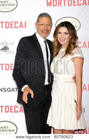 LOS ANGELES - JAN 21:  Jeff Goldblum, Carly Steele at the
