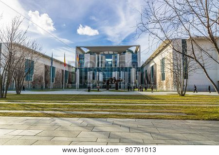 BERLIN, GERMANY - FEBRUARY 17, 2014: Office of the Federal Chancellor of Germany