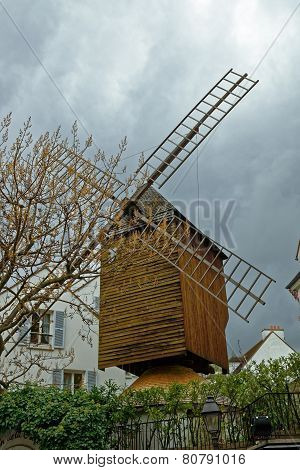 PARIS, FRANCE - NOVEMBER 03, 2014:  Montmartre. Le Moulin de la Galette