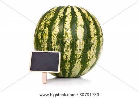 Melon With Little Blackboard