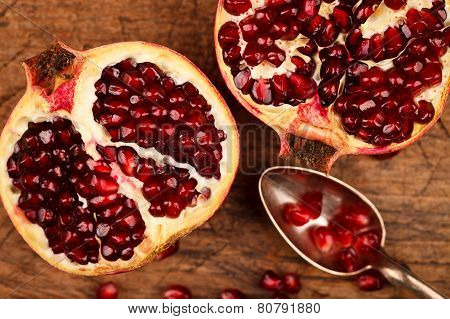 Pomegranate Fruits And Seeds