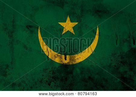 Grunge Mauritania Flag