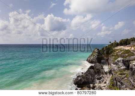 Beautiful beach in Tulum, Mexico