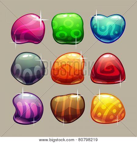 glossy stones