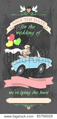 Wedding Invited Car Black
