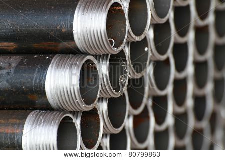 unfinished threaded pipes
