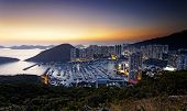 stock photo of typhoon  - Typhoon Shelters in hong kong aberdeen - JPG