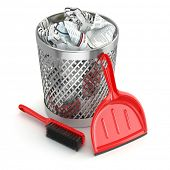 image of garbage bin  - Cleaning concept - JPG