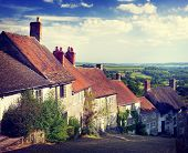 pic of british culture  - British Culture Traditional House Famous Travel Spot Concept - JPG