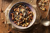 pic of mixed nut  - Raw Organic Homemade Trail Mix with Nuts and Fruits - JPG