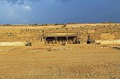 picture of great horse  - Hippodrome stage ruins in Caesarea Maritima National Park - JPG