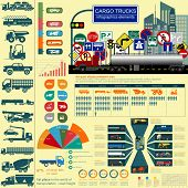 picture of tank truck  - Cargo transportation infographics trucks lorry - JPG