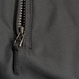 foto of zipper  - Black Polyester Twill Fabric Texture Background - JPG