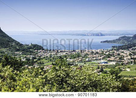 Garda Lake And Garda City Views From The Hills