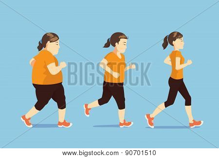 Women running to slim