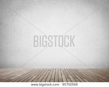 Grunge Background Wallpaper Wood Floor Concrete Concept