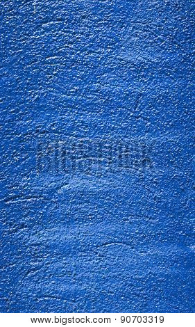 Blue Decorative Relief Plaster On Wall