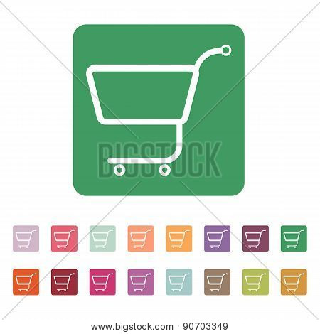 The Shopping Cart Icon. Shopping Cart. Flat