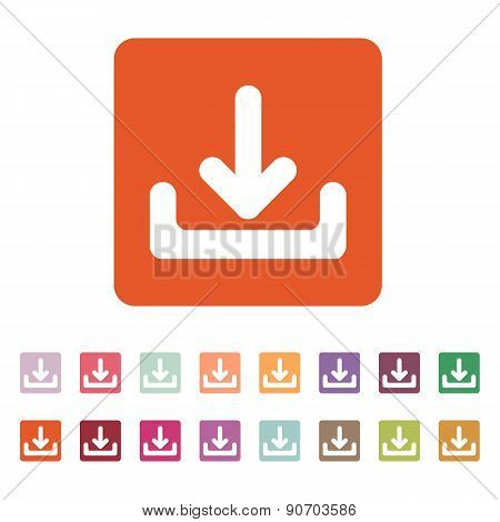 The Download Icon. Load Symbol. Flat