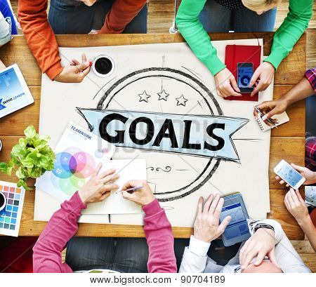Goal Aspiration Expectation Encourage Dreams Concept
