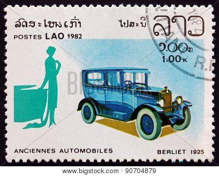 Postage Stamp Laos 1982 Berliet 1925