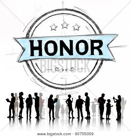 Honor Integrity Success Victory Achievement Concept