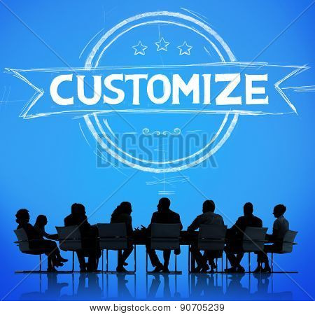 Business Meeting Customize Banner Concept