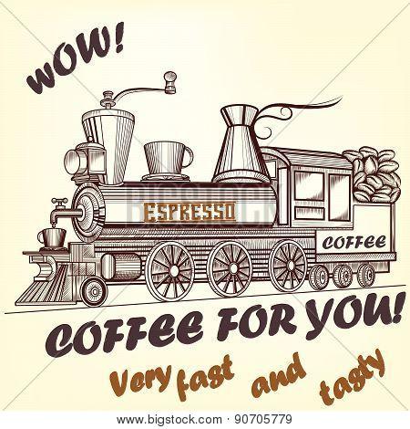 Coffee Retro Advertising Poster