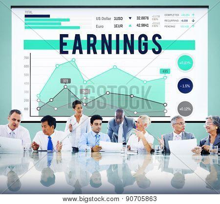 Earnings Profit Banking Budget Economy Concept
